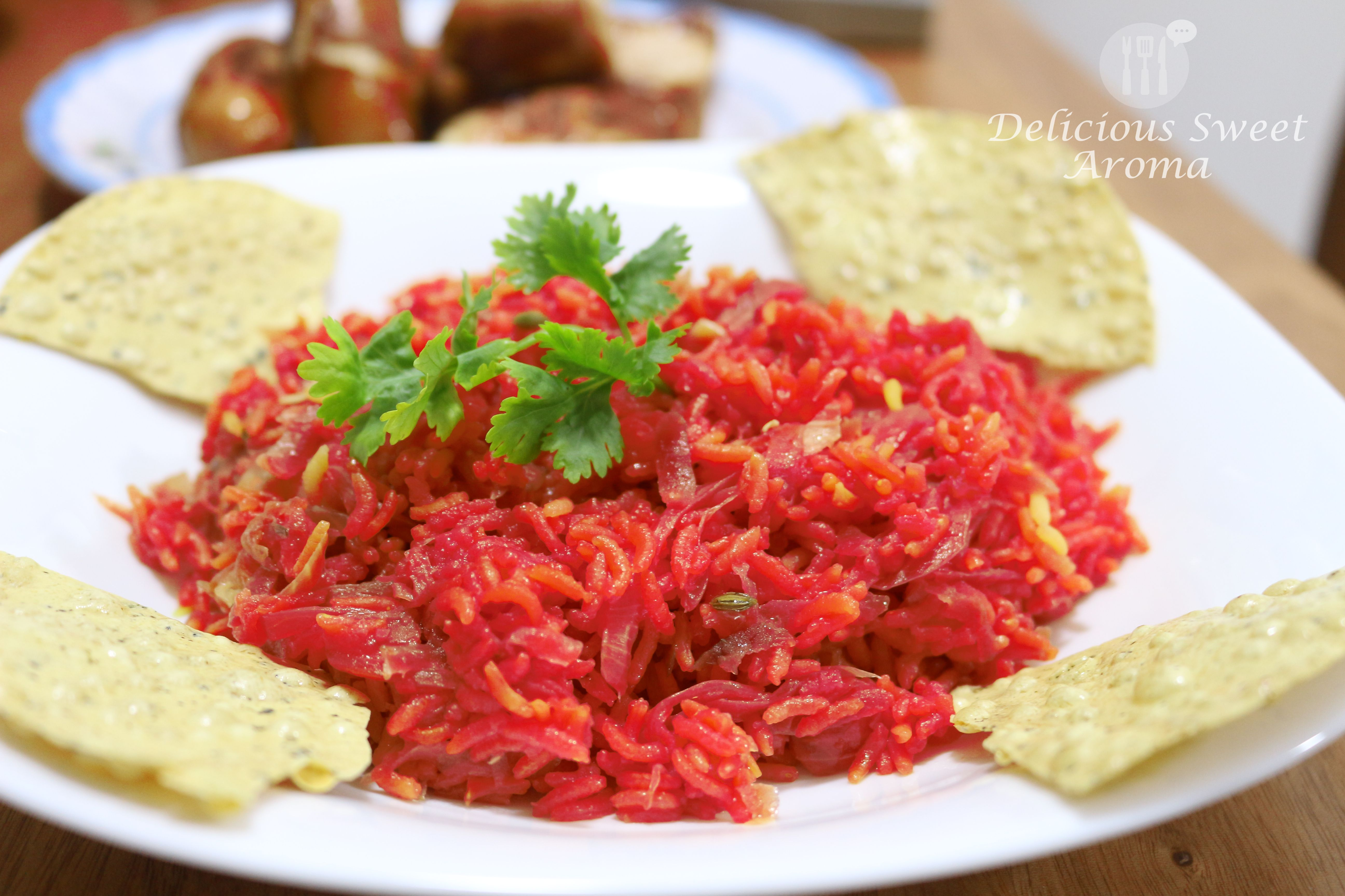 Easy Beetroot Rice