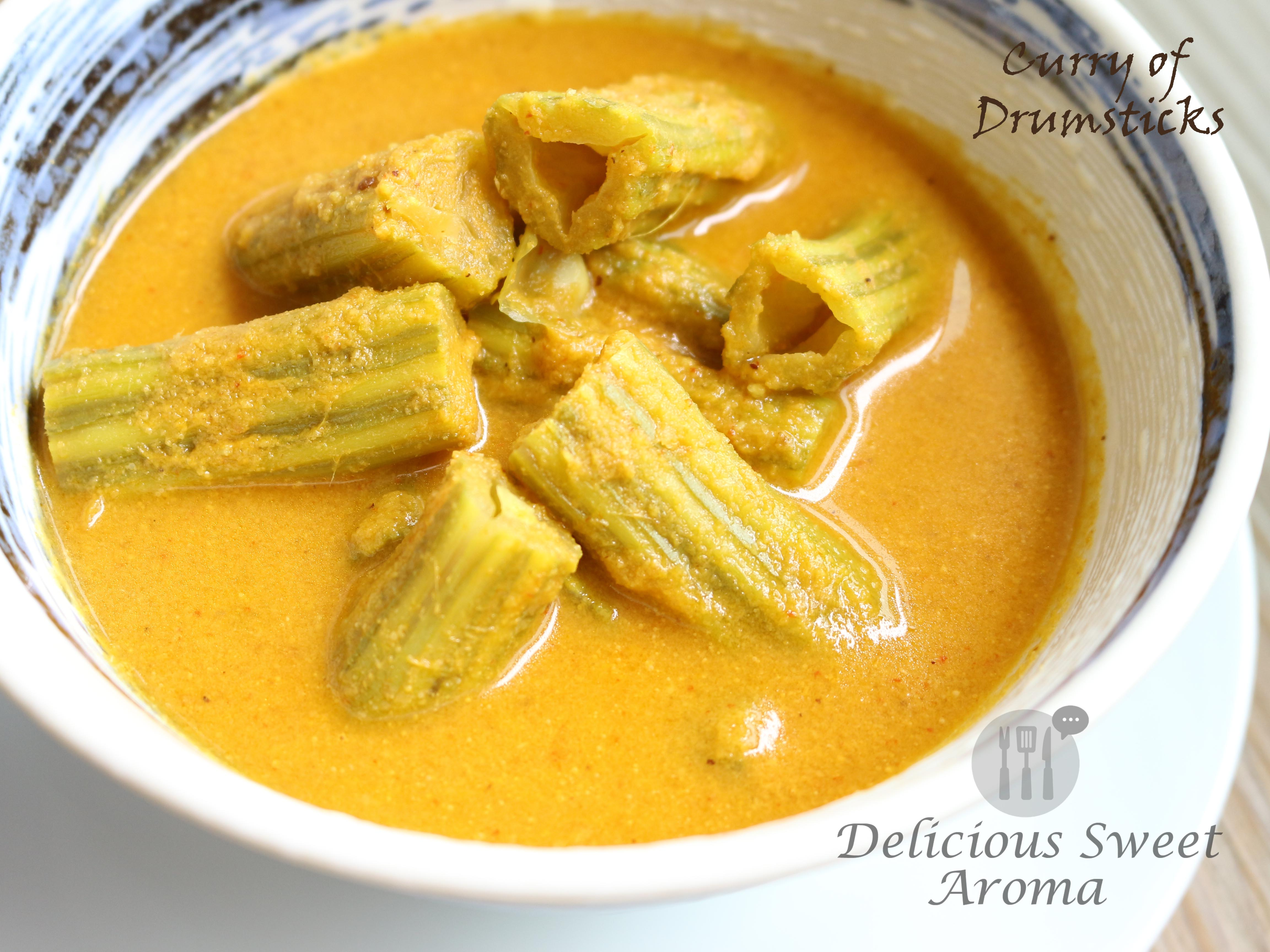 Curry of Drumstick   Vegan   Delicious Sweet Aroma