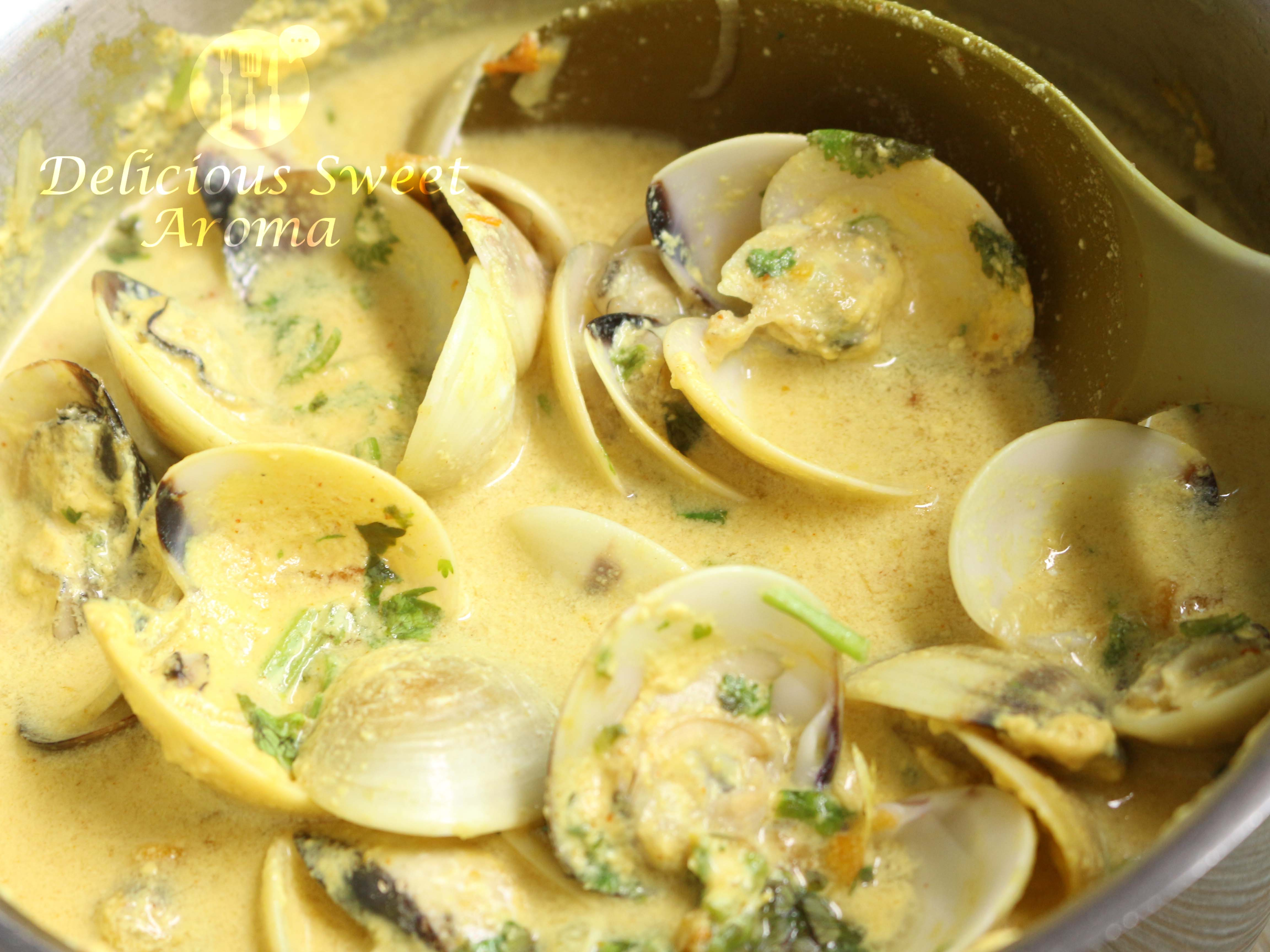 Clams in Coconut Milk   Fresh Clams   Cooking shell fish